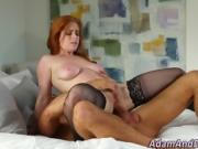 Beautiful lingerie redhead tasted fucked and jizzed in hd