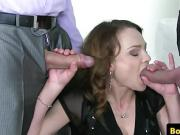 pussy fucking amateur jerks and sucks 2 cocks before doggysty