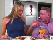 Babes Tina Kay and Ivana Sugar sucks Chad Rockwell huge cock