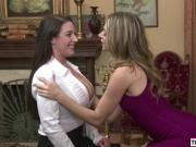 Angela having sex with lesbian room mate