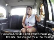 Fake taxi driver bangs fat Thai babe
