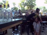 Petite Euro slave fucked in public outdoor bar