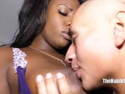 Sexy ebony queen mckenzie lee fucks her bf on the ass and
