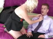 Sweeties plow dudes butt hole with massive strapons and burst