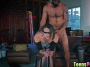 Petite Alex Moore felling satisfied for large