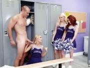 Slutty cheerleader Lyra Law fucks big dick
