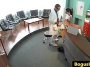 Doctor fucks patients pussy in waiting room before exam