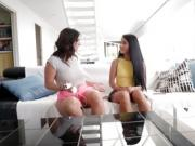 Hot latina babes Claudia and Apolonia fuck each other