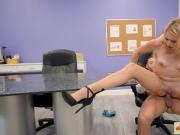 Horny slut fucked by her officemate