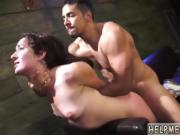 Rough tied to bed Helpless Evelyn has been walking for