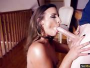 Amira Adara in sheer pantyhose asshole fucked by hard dick