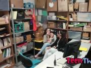Teen Thieves Peyton And Sienna Suck Dick