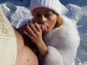 Fucking My Sister Outdoor In The Snow