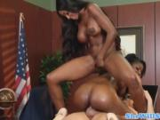 Hot Black Babes Get A Little White Cock