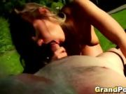 Old man bangs fabulous brunette babe