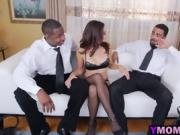 Flexible nasty mama in three way banging