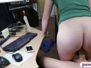 Cute babe drilled by nasty pawn keeper at the pawnshop