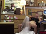 A slutty pretty bride gets intensely fuck in the office