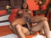 Ebony Bbw Gets Her Pussy Filled With White Meat