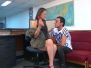 Santa Latina - Teen Latina sucks dick and gets cum in mouth