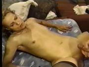 Small Breasted Blonde Requires Two Mens Dicks