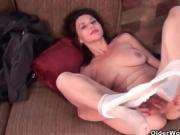 Gorgeous Brunette Milf Teases The Camera With Ass