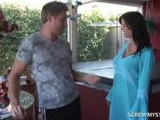 MILF Flirts With Fit Step Son