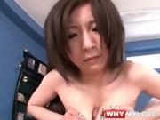 Sexy tits Japanese girl gives titjob and fucks