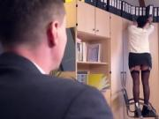 Bums Buero - Cum lands on pussy after sex with German boss