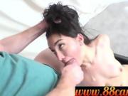 Poor girl fucked for rent money