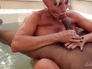 Milf Girlfriends Share Bath Time with BBC
