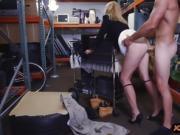 Blondie milf gets banged in storage room