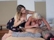 Blair Williams and Alura Jenson sharing hard dick
