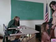 Cute submissive schoolgirl gets a through pussy treatment