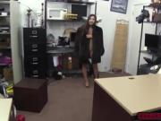 Slutty cute exotic babe takes a pawn dudes cock for cash