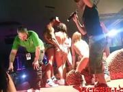 Public pornstars orgy with pornoband at SEM 2014
