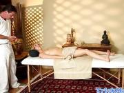 Massage amateur cocksucking her lucky masseur