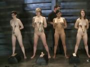 Masters training group of slave sluts