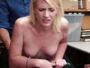 Amateur blonde thief Fallon gets what she wants