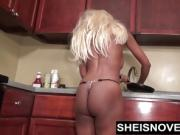 Getting Naked N The Kitchen Freaky Msnovember Spread EbonyAss
