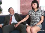 Innocent schoolgirl gets seduced and fucked by her older teac