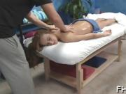 All natural teen fucked hard by her massage therapist