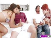Hot teens Ella and Ava enjoy in sex orgy