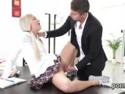 Cuddly schoolgirl is teased and shagged by her older teacher