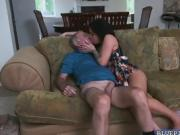 Aria Rose gives Frankie a hot steaming rim job