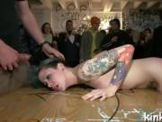 Pretty hot girl suffers beautifully in hard bondage and sex!