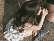 Asian babe getting fucked outdoors and she adores the session