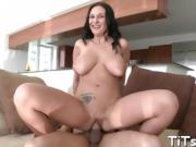 Dude bangs babes perfect pussy after raucous blowjob