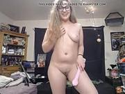 Chubby blonde Teen getting naked live on webcam for us