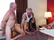 Old man huge Staycation with a Latin Hottie